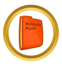 Business plan icon vector