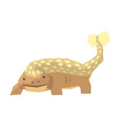 Cartoon megalaniya dinosaur character jurassic vector