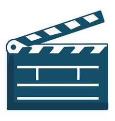 Clapboard icon cartoon style vector