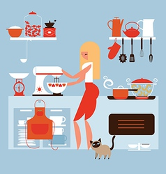 Cooking at home vector