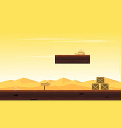 Desert style background game collection vector