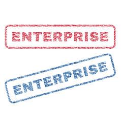 Enterprise textile stamps vector
