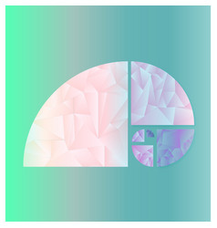 fibonacci spiral vector image vector image