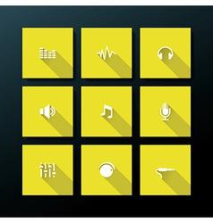 flat audio icon set vector image vector image