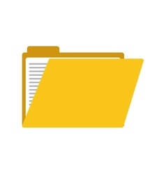 Folder file yellow document info icon vector
