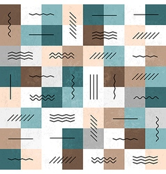 geometric retro pattern vector image vector image