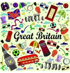 Great Britain line art design vector image
