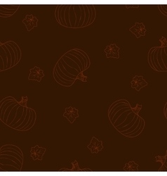 Halloween dark seamless pattern with pumpkins vector image