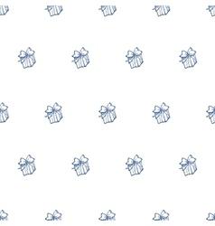 hand drawn gift box seamless pattern vector image vector image