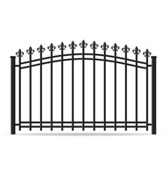 Iron forged fence vector