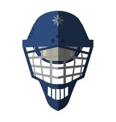 Isolated helmet of winter sport design vector image vector image