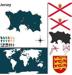 Jersey map vector
