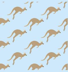 Kangaroo seamless pattern vector