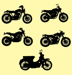 motorcycle silhouette vector image
