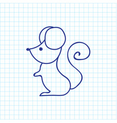 of animal symbol on mouse vector image vector image