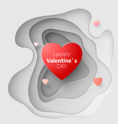 paper art concept of valentines day february 14 vector image vector image