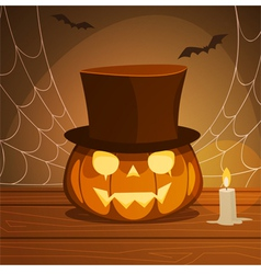 Pumpkin With Hat vector image