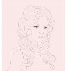 Retro Woman Portrait vector image