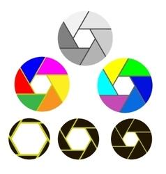 Set of Apertures vector image