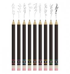 sketching pencils vector image