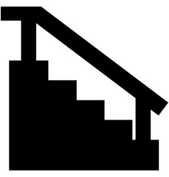stairs icon vector image vector image