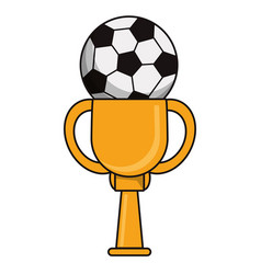 Trophy soccer sport golden image vector