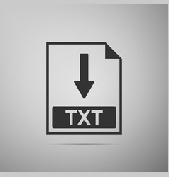 txt file document icon download txt button icon vector image vector image