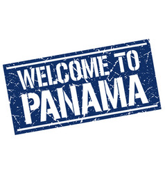 Welcome to panama stamp vector