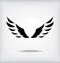 wing silhouette vector image vector image