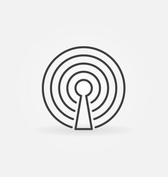 Wireless internet icon vector