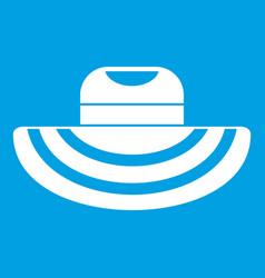 Women beach hat icon white vector