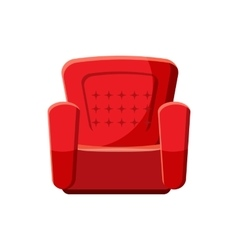 Armchair icon cartoon style vector