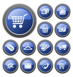 Shopping buttons vector