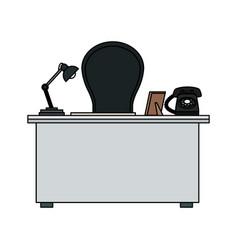 office desk icon image vector image