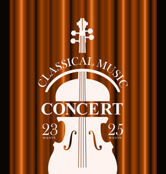 Poster for concert of classical music with violin vector