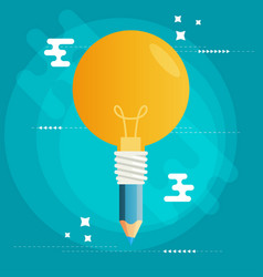 Creative idea flat design vector