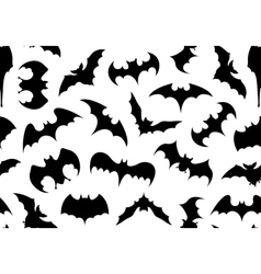 Seamless bats background vector image
