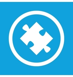 Puzzle piece sign icon vector
