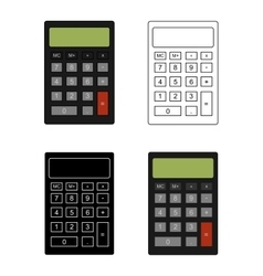 Office calculator set vector