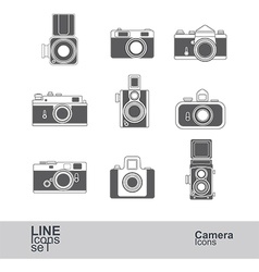 camera icons2 vector image