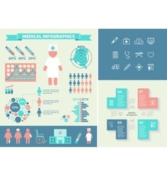 Medical infographic set with icons chart vector