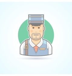 Postman mailman delivery man icon vector