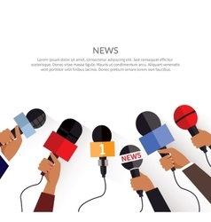 News banner template set of microphone vector