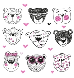 Cute bears series vector