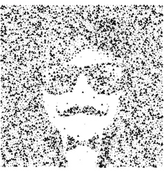 Hipster character with sunglasses and vector image