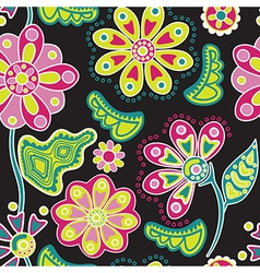 Abstract floral background summer theme seamless vector image vector image