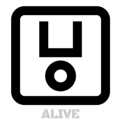 Alive conceptual graphic icon vector