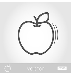 Apple outline icon Harvest Thanksgiving vector image vector image