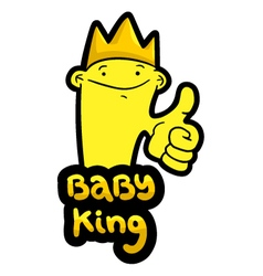 baby king vector image vector image