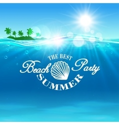 Beach Party poster The best summer placard vector image vector image